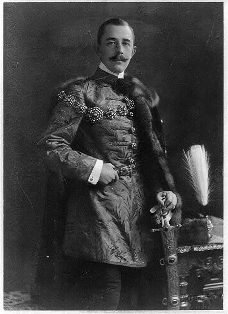 Vanderbilt-Szechenyi wedding - Official portrait of Count Szechenyi, made just before he married Gladys Vanderbilt