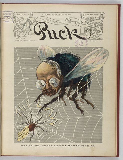 """""""Will you walk into my parlor?"""" said the spider to the fly / K."""