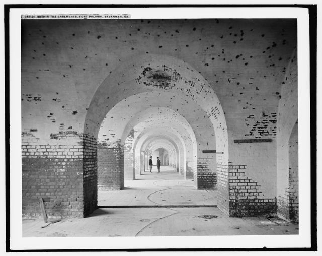 Within the casements, Fort Pulaski, Savannah, Ga.