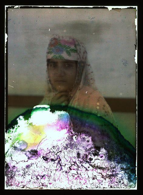 [woman wearing a headscarf]