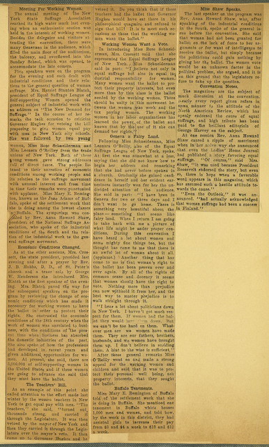 Women Name Same List of Officers; 39th annual New York State Woman Suffrage Association Convention; page 2