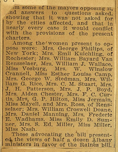 Women Suffrage Discussed