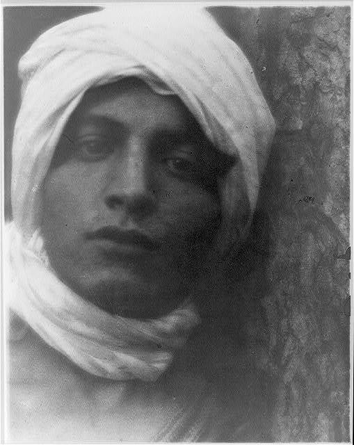 [Youth in Middle-Eastern costume with turban with turban]