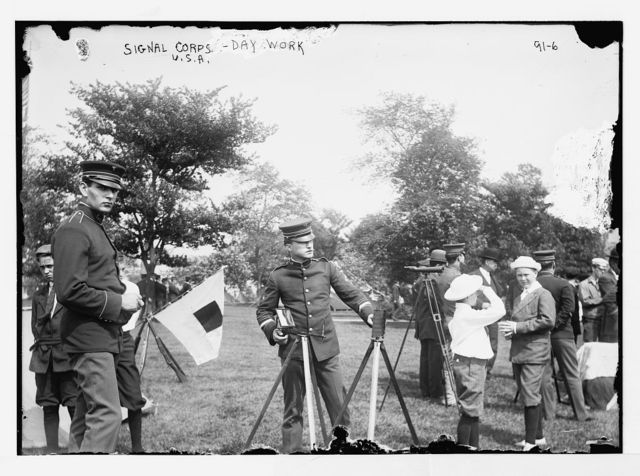 12th Infantry, Signal Corps, Day Work, Governor's Island, N.Y.