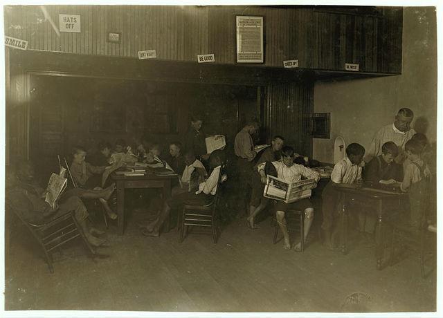 #29 Recreation. Newsboys' Protective Association, Cincinnati, Ohio. Witness, E. N. Clopper.  Location: Cincinnati, Ohio.