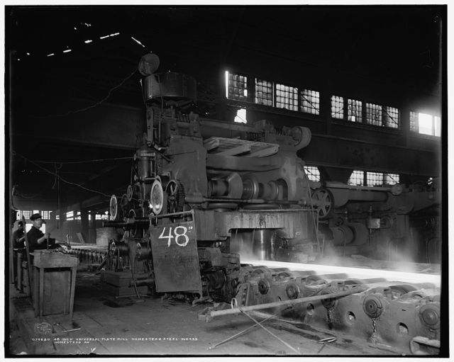 48-inch universal plate mill, Homestead Steel Wks. [Works], Homestead, Pa.