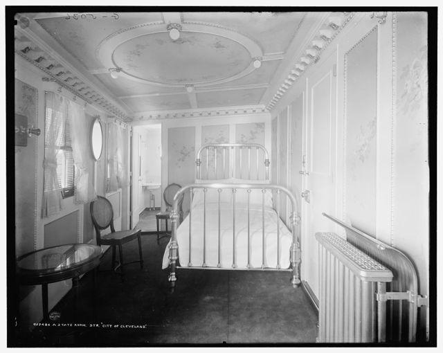 A State room, Str. City of Cleveland, [Detroit & Cleveland Navigation Co.]