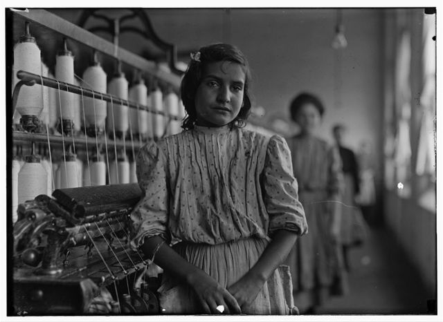 A typical spinner. Mamie --------- Lancaster Cotton Mills, S.C.  Location: Lancaster, South Carolina.