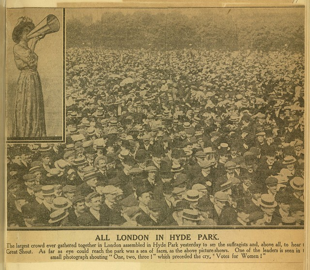 All London in Hyde Park for record-breaking suffrage demonstration