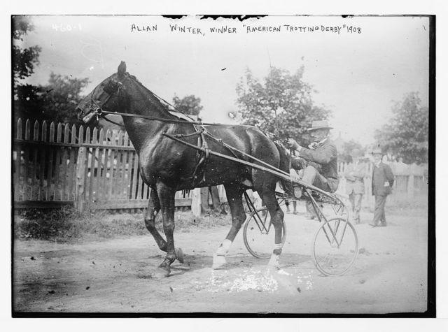 """Allan Winter, winner, """"American Trotting Derby"""", 1908, Readville"""