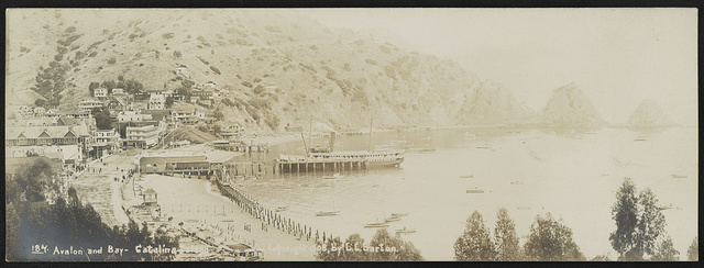 Avalon and bay, Catalina Island. / Lester Clement Barton.