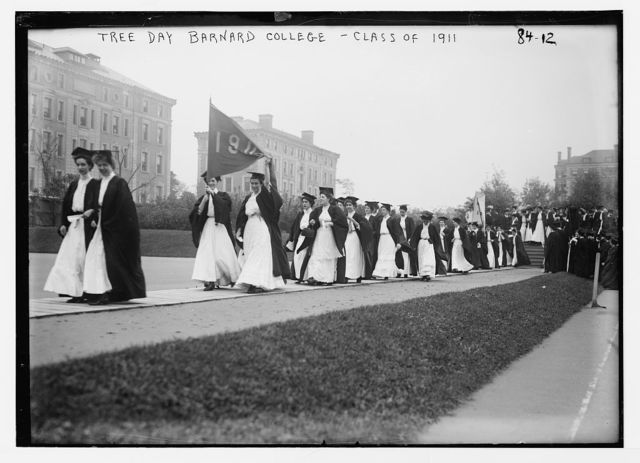 Barnard College. Academic procession on Tree Day, Class of 1911, New York