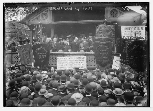 Berkman speaks at Socialist meeting in Union Square, New York