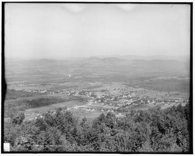 Bethlehem, N.H. from Mt. Aggassis [i.e. Mount Agassiz]