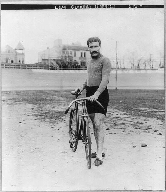Bicycle riders: Leon Georget