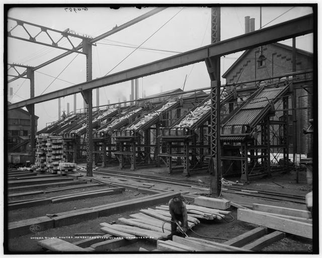 Billet chutes, Homestead Steel Works, Homestead, Pa.