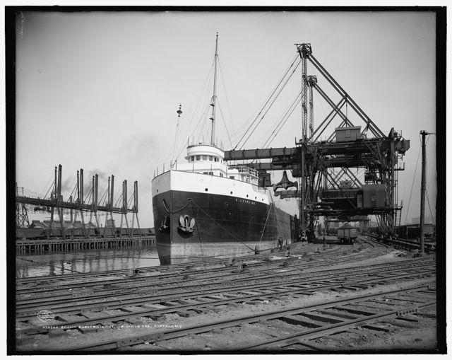 Brown electric hoist, unloading ore, Buffalo, N.Y.
