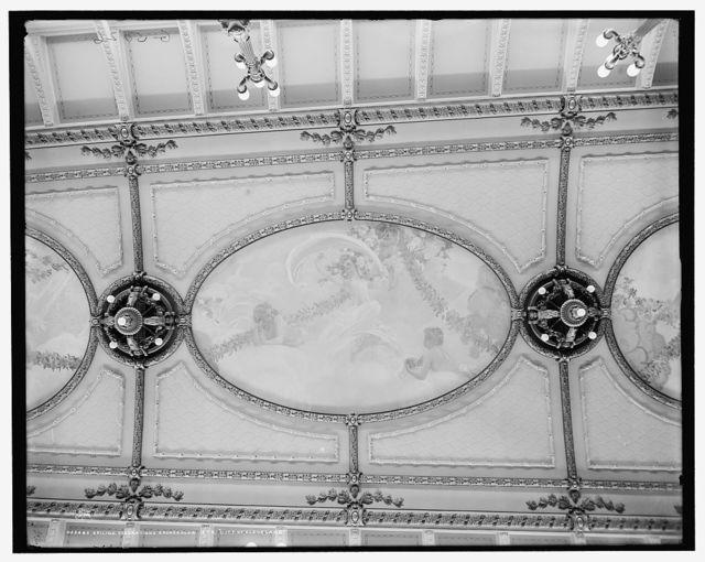 Ceiling decorations, grand salon, Str. City of Cleveland, [Detroit & Cleveland Navigation Co.]