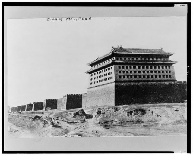 Chinese Wall, Pekin--China - the Great Wall, Peking - Rebels have passed another part of the wall and are marching on Peking