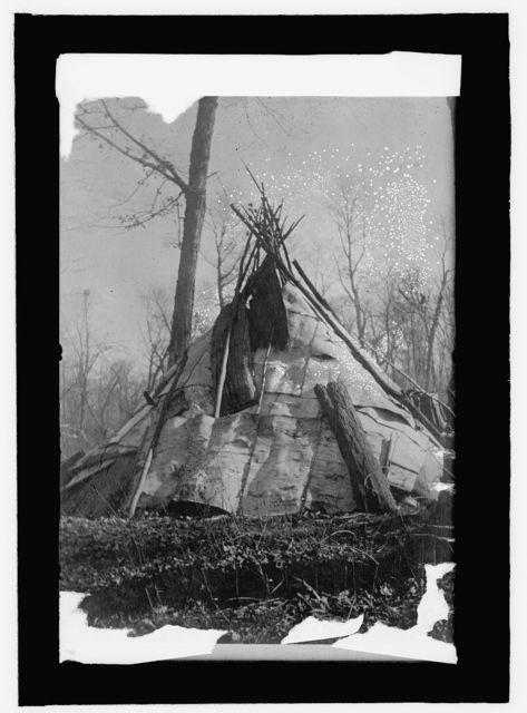 Chippewa birch bark wigwam