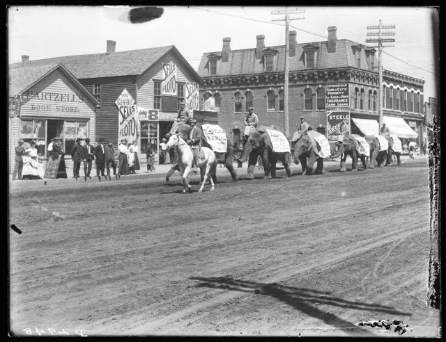 Circus parade, Kearney, Nebraska