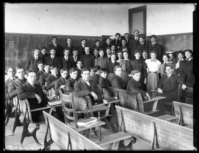 Classroom of students at State Normal School, Kearney, Nebraska.