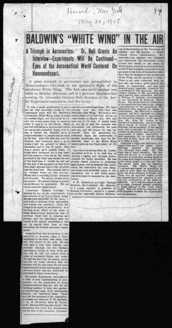 Clipping, May 20, 1908