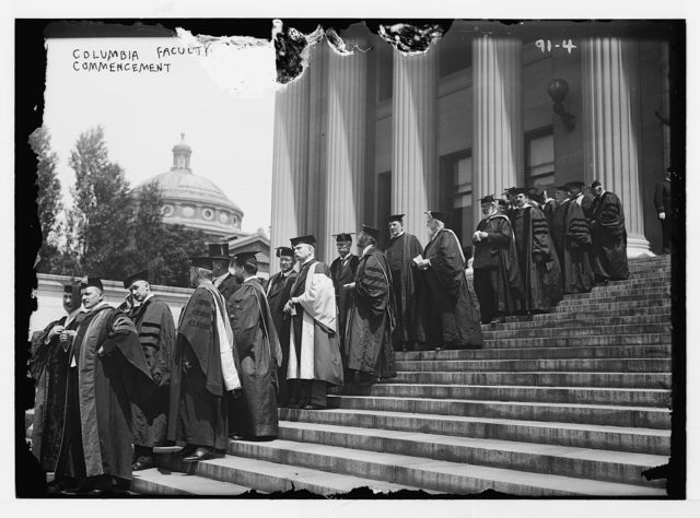 Columbia Univ. commencement, academic procession of faculty, New York