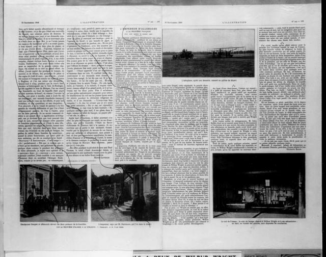 Comme un Oiseau-Une Matinee au camp d'auvours [L'Illustration, 19 September 1908]
