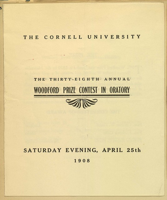 Cornell University Woodford Prize Contest in Oratory
