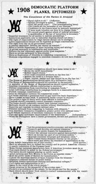 Democratic platform planks, epitomized. 1908. New York 1908.
