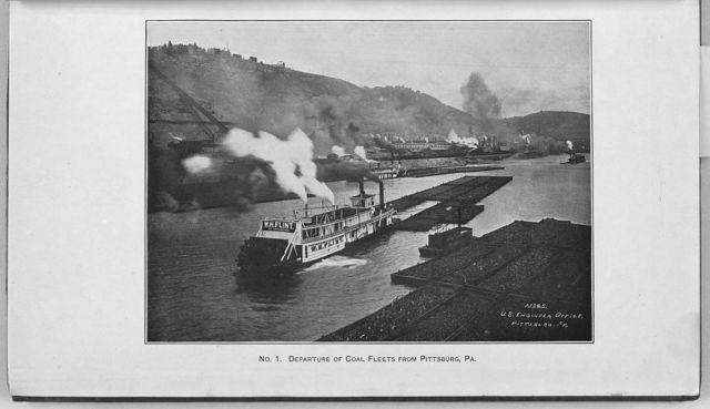 Departure of coal fleets from Pittsburg [sic], Pa.