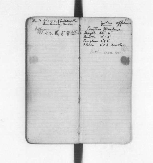 Diaries and Notebooks:  1908-1912, Orville and Wilbur Wright