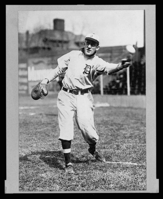 [Ed Killian, Detroit Baseball Club pitcher, full-length portrait, in uniform, throwing ball]
