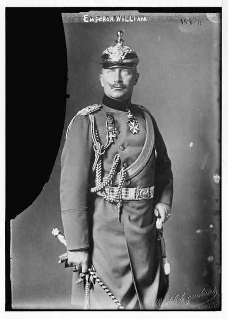 Emperor William, standing three-quarters, in uniform, Gest. Gesch. / Geset. gesch.
