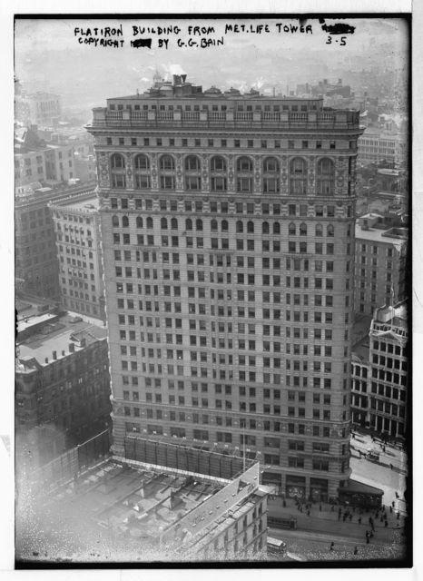 Flatiron Bldg from Met. Life Tower, Copyright G.G. Bain, New York / G.G.Bain