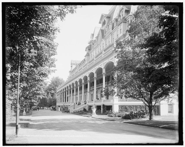 Fort William Henry Hotel, north facade, Lake George, N.Y.