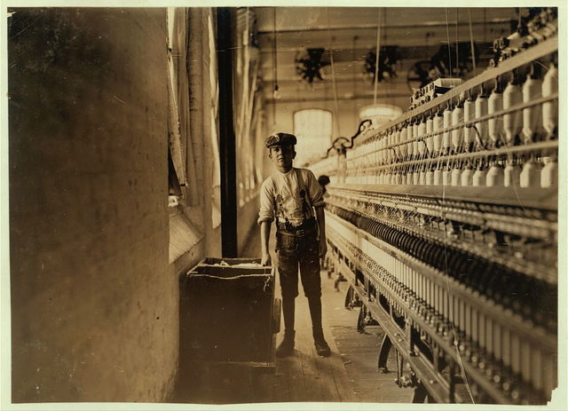 Frank Craneshaw. Has doffed for 3 years in Lancaster Cotton Mills, S.C. Gets 75 cents a day.  Location: Lancaster, South Carolina.