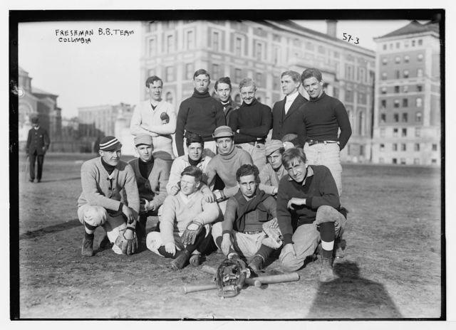 Freshman baseball team, Columbia University, New York