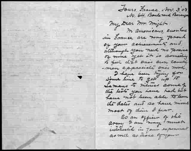 General Correspondence:  Pershing, John J., 1908