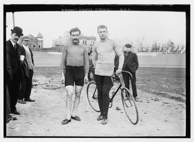 Georget and Dupre of France, with bicycle