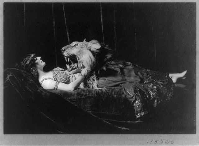 """Gertrude Hoffmann, scantily-dressed for role in opera, """"Salome"""""""