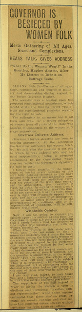 Governor is Besieged by Women Folk; page 2