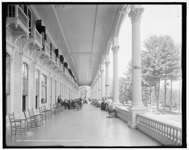 Grand piazza, Fort William Henry Hotel, Lake George, N.Y.