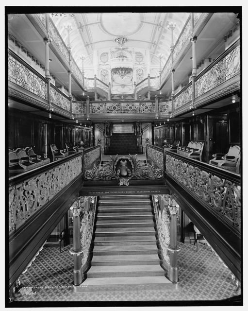 Grand salon, Str. City of Cleveland, [Detroit & Cleveland Navigation Co.]