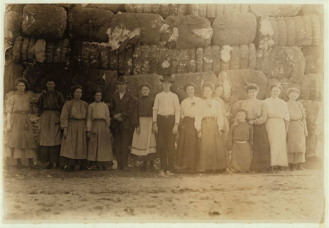 Group of employees in Lancaster (S.C.) Cotton Mills.  Location: Lancaster, South Carolina.