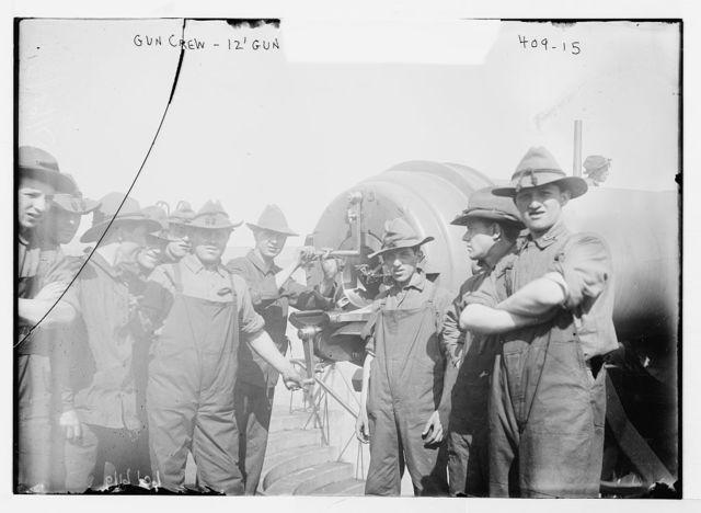 Gun crew,12' gun [Fort Hamilton]