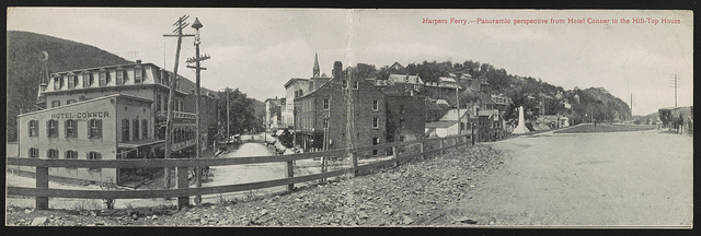 Harpers Ferry : panoramic perspective from Hotel Conner to the Hill-Top House