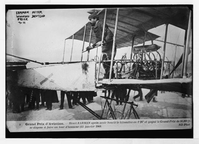 Henri Farman after winning Deutsch prize of aviation, ND Photo / ND Photo