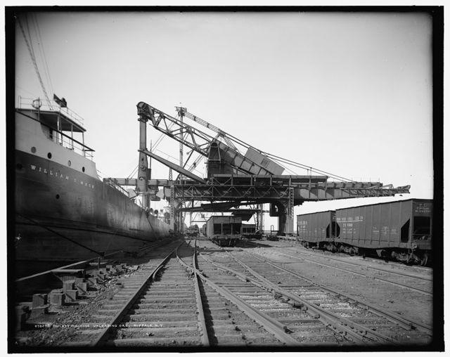 Hulett machine unloading ore, Buffalo, N.Y.